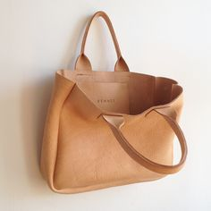 leather tote. by rennes.