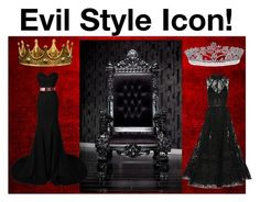 """Evil Style Icon!"" by taken-by-fictional-character ❤ liked on Polyvore featuring Bling Jewelry, Seletti and Elie Saab"