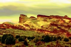 Capital Reef National Park Digitally painted, Created from Scratch on a Blank Canvas by Bob Johnston.