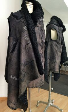 new yesterday - reworked fur fashion, vest reversible, one of a kind, SLOW FASHION
