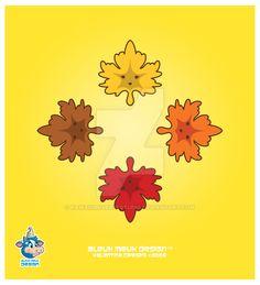 Kawaii Fall Maple Leaves by KawaiiUniverseStudio.deviantart.com on @DeviantArt