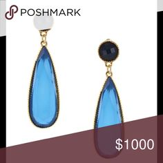 "💖💖💖Olivia Welles Earrings HP Best Jewelry 14K gold plated base metal with resin stones. 3"" length Olivia Welles Jewelry Earrings"
