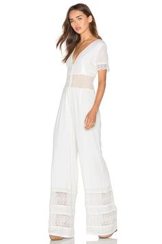 Shop for Women's Designer Jumpsuits & Coats at REVOLVE CLOTHING. Find designer Long Sleeve, Short Sleeve, & Sleeveless jumpsuits from top fashion brands! Chiffon Pants, Chiffon Dress, Casual Jumpsuit, Jumpsuit Dress, Crochet Jumpsuits, How To Make Clothes, Making Clothes, Long Romper, Denim And Lace
