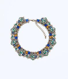 ZARA - Multicolor RHINESTONE NECKLACE $50