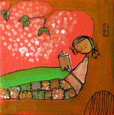 Pink Tree Girl Reader by Johanna Wright
