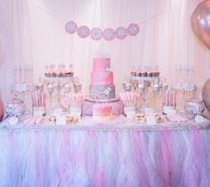 Winter Onederland Dessert Table #SweetEsBakeShop