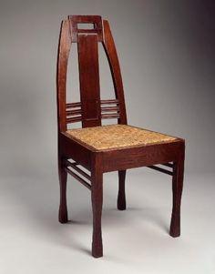 Peter Behrens, dining chair, 1902;  German Werkbund