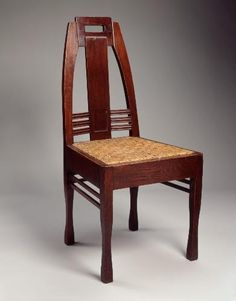 Peter Behrens, dining chair, 1902;  German Werkbund