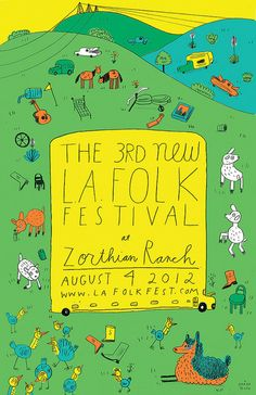 poster -The New L. Folk Fest Tickets - The Zorthian Ranch on August 04 Typography Poster, Poster Ads, Typography Design, Poster Prints, Lettering, Zine, Event Poster Design, Event Posters, Poster Designs