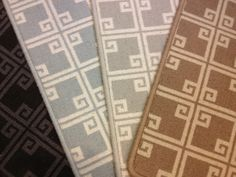 Charing Cross is a geometric patterned carpet that can be used for wall to wall installation or as an area rug of any size.  Offered in a variety of colors. Axminster carpet made in England.  Similar to what Stark might offer at a better price. Purchase at Hemphill's Rugs & Carpets in Orange County, California. www.RugsAndCarpets.com