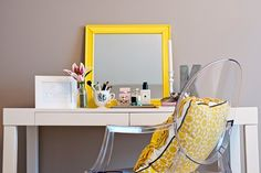 I need a small vanity that will look pretty and store all my make-up!