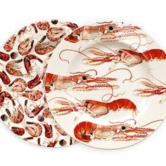 Langoustines & Shrimps 8.5in Plate Set (Gift Boxed)