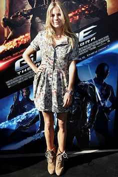 Sienna Miller in Poltock and Walsh dress - 'G.I.Joe The Rise Of The Cobra' Press Conference in Sydney, Australia. (July 2009)