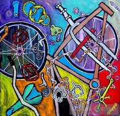 bicycle artwork - Google Search