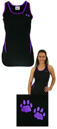 Purple Paw Workout Tank Top at The Animal Rescue Site. Funds 14 bowls of food.