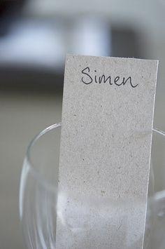 Bordkort i bokpapp