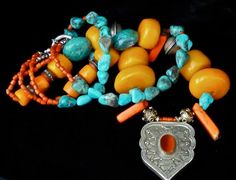 thejoymooscollection   Stunning Necklace Double Strand Necklace   JEWELS - Tribal/Unusual...