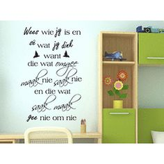 Saak Maak Afrikaans wall quote Vinyl Wall Art Quote Sticker Decal Vinyl Interior Decor in the Wall Decals category was sold for on 23 Jun at by in Pretoria / Tshwane Wall Stickers Quotes, Vinyl Wall Quotes, Vinyl Wall Art, Wall Decals, Afrikaanse Quotes, Silhouette Vinyl, Diy Signs, Wood Signs, Gift Quotes