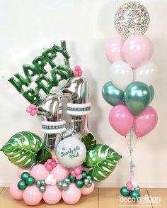 Balloon Display, Balloon Decorations Party, Birthday Party Decorations, Baby Birthday Cakes, Diy Birthday, Birthday Balloons, Balloon Bouquet Delivery, Balloon Arrangements, Balloon Columns