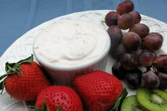 Fresh Fruit With Strawberry Cream Cheese Dressing from Food.com:   Serve as a fruit salad or dip.  Prep time includes prepping fruit slices.