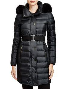 Burberry London Abbeydale Down Puffer Coat with Fur Hood   Bloomingdale's