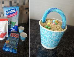 Individual Sand Pudding in mini pails - DolledUpDesign