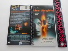 Notebook, 4.00 X 7.50, 90 pages, VHS Notebook, Movie Blank Book, Movie Lover, Spiral Notebook, Matching Bookmark, Kiss the Girls by LeeEmporium on Etsy