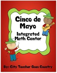 Cinco de Mayo Integrated Math Center (3rd-4th grade) - This math center with a Cinco de Mayo theme is ready to go. Common Core aligned and also follows Texas TEKS.Included in the 7 printable pages are:16 word problem cards, student directions page, recording sheet for accountability, and answer key.Math skills include:multiplication, division, fractions, place value, subtraction, time, measurement reasonableness, rounding, patterns