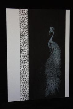 Inkadinkado papercut peacock cling