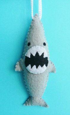 Jaws a Felt shark ornament