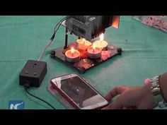 Gaza Teen Uses Candle Heat To Generate Electricity
