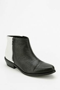 Black and white booties. Like wearing black and white cookies on your feet.