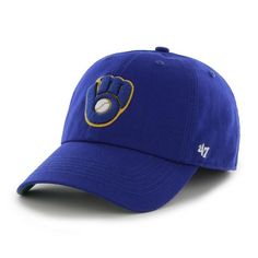 d412b751f5f18 Milwaukee Brewers 47 Brand Franchise Glove Alternate Logo Blue Hat Cap