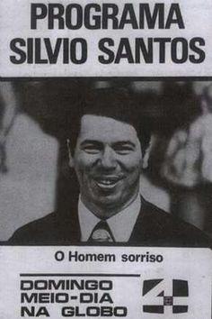 Propaganda antiga do Programa Silvio Santos na programação da Rede Globo no final dos anos 60