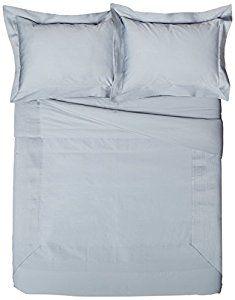 Pinzon 400-Thread-Count Egyptian Cotton Sateen Pleated Hem Duvet Set - King, Dusty Blue -   - http://homesegment.com/home-kitchen/pinzon-400threadcount-egyptian-cotton-sateen-pleated-hem-duvet-set-king-dusty-blue-com/