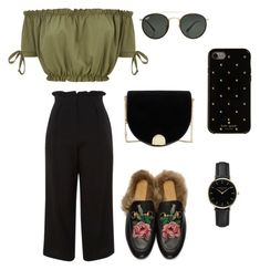 """""""#7"""" by chavelles on Polyvore featuring Topshop, Gucci, Ted Baker, Ray-Ban, Kate Spade and ROSEFIELD"""