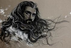 Richard Armitage as Thorin Oakenshield in The Hobbit Trilogy Fan Art Der Hobbit Thorin, Hobbit Art, O Hobbit, Gandalf, Thorin Oakenshield, Bilbo Baggins, Tauriel, Thranduil, Legolas
