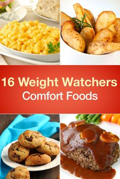 16 Weight Watchers Comfort Food Recipes including Macaroni and Cheese, Chicken Pot Pie, Lasagna, and more! Weight Watchers Meatloaf, Weight Watchers Casserole, Plats Weight Watchers, Weight Watcher Desserts, Weight Watcher Dinners, Weight Watchers Chicken, Weight Watchers Smart Points, Ww Recipes, Chicken Recipes
