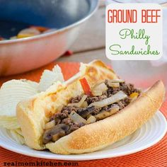 Ground Beef Philly Sandwiches - Real Mom Kitchen