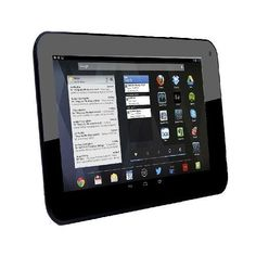 AXESS TA25107BK 7Inch Dual Core GOOGLE PLAY Tablet A20 Cortex A7 CPU with Android 42 Jelly Bean  4 GB Storage with Micro SD Card Slot up to 32 GB 512 MB RAM G Sensor HDMI Output WiFi Builtin Dual Camera and Speaker in Black Color *** Learn more by visiting the affiliate link Amazon.com on image.
