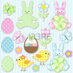 Easter set of vector elements photo