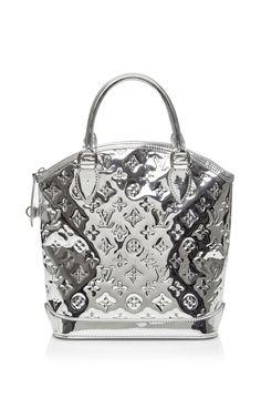 Vintage Louis Vuitton Silver Miroir Lockit Pm by WHAT GOES AROUND COMES AROUND for Preorder on Moda Operandi