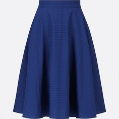 WOMEN CIRCULAR SKIRT, BLUE