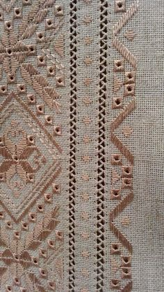 Tammy Jarosz's media content and analytics Hardanger Embroidery, Folk Embroidery, Types Of Embroidery, Learn Embroidery, Embroidery Fashion, Silk Ribbon Embroidery, Embroidery Stitches, Embroidery Patterns, Crochet Patterns