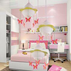 Modern Butterfly/Fire Balloon Pendant Lamp Creative Cute Living Room Bedroom Children Room Hanging Lighting