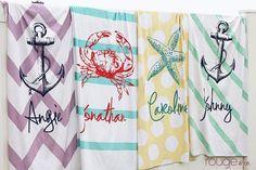 SEASIDE beach towel huge ultra-soft microfiber by rougeandco Seaside Beach, Beach Fun, Seaside Wedding, Summer Beach, Summer Time, Monogrammed Beach Towels, Beach Gifts, Gifts For Wedding Party, Wedding Ideas