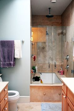 Interesting take on glass door shower/bath