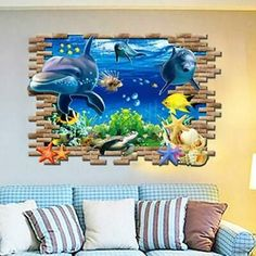 Ikea baby nursery Wall Sticker Underwater World Animal Floor Decal Bedroom Decoration Art . 3d Wall Decals, Kids Room Wall Stickers, Removable Wall Stickers, Mural Wall Art, Wall Stickers Murals, Nursery Wall Decals, Sticker Vinyl, Ikea Baby Nursery, Floor Decal