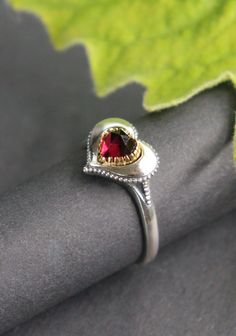 Silberring mit Herz Rings, Silver, Jewelry, Bangle Bracelet, Stud Earring, Heart, Wristlets, Valentines Day, Jewlery