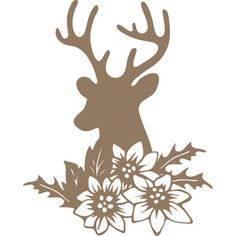 Silhouette Design Store: christmas deer